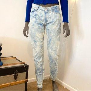 HUDSON acid washed jeans • size 27